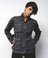 SUPREME BEING WOMENS RETRO RIDER MILITARY JACKET