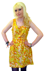 TULLE Bowflower Retro 60s Mod Floral Dress