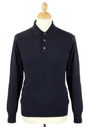 Treswell ALAN PAINE Wool Knit Retro Mod Polo (DN)