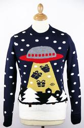 'Beam Me Up Pressies' Spaceship Christmas Jumper