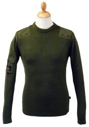 ALPHA INDUSTRIES Retro Indie Military Knit Jumper