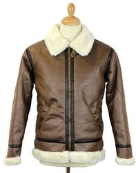 ALPHA INDUSTRIES Faux Leather 70s B3 Flight Jacket