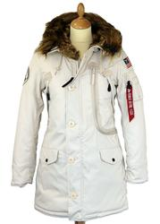 Polar ALPHA INDUSTRIES Retro Mod Womens Parka (OW)