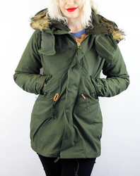 Vintage Fishtail ALPHA INDUSTRIES Womens M65 Parka