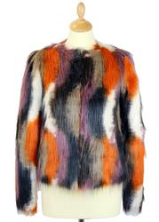 Carmen ANDY WARHOL Marilyn Monroe Faux Fur Coat