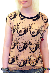 Java ANDY WARHOL Vintage 50s Marilyn Monroe Top