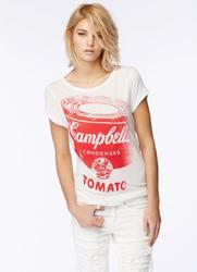 Rennee ANDY WARHOL Retro Pop Art Longline T-Shirt