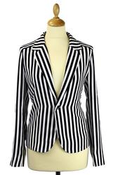 Ritta ANDY WARHOL Retro Striped Blazer Jacket