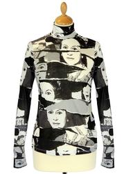 Bob Andy Warhol Pepe Pop Art Queen Roll Neck Top