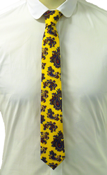 Big Yellow Paisley ATKINSONS Retro Mod Poplin Tie