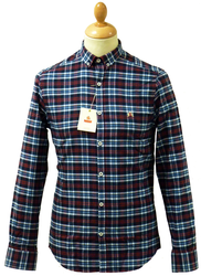 Faulkner BARACUTA 60s Mod Check Button Down Shirt