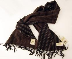 'Baracuta Angora and Lambswool Scarf' (Brown)