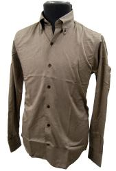'Baracuta G9 Button Down Oxford Shirt' - (Brown)