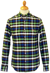 Hart BARACUTA Retro Mod Block Check Indie Shirt RB