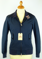 BARACUTA G9 GARMENT DYED HARRINGTON NAVY MOD 60S