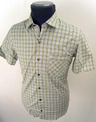 'Baracuta G9 Short Sleeve Check Shirt' (Green)