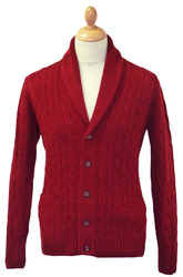 George BARACUTA Cable Knit Shawl Collar Cardigan