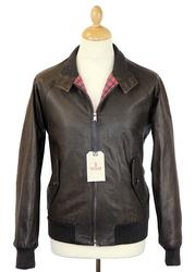 BARACUTA G9 Original Chocolate Leather Harrington