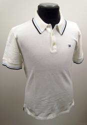 'Baracuta G9 Short Sleeve Polo Shirt' (White)