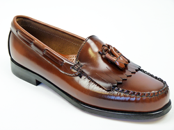 Layton BASS WEEJUNS Mod Tan Tassel Loafer Shoes