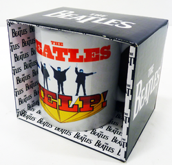 HELP USA Beatles Retro Sixties Help Record Mug