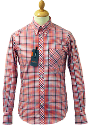 Gingham Window Check BEN SHERMAN Retro Mod Shirt