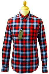 BEN SHERMAN Retro Mod Lumberjack Block Check Shirt