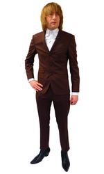 BEN SHERMAN Brick Brown Tonic 3 Button Mod Suit