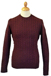 BEN SHERMAN Cable Knit 60s Mod Fisherman Jumper BM