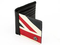 BEN SHERMAN Union Jack Mod Canvas/Leather Wallet N
