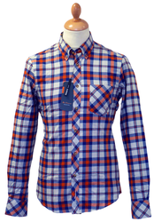 Brushed Cotton BEN SHERMAN Retro Mod Check Shirt C