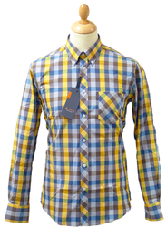 BEN SHERMAN 60s Mod Block Check Retro Shirt (C)