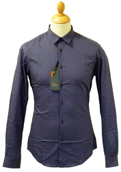 Op Art Dot BEN SHERMAN Mens Retro 60s Mod Shirt