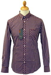 Stripe Check BEN SHERMAN Mod Button Down Shirt TR