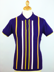 Sixties Stripe BEN SHERMAN Retro Mod Knitted Polo