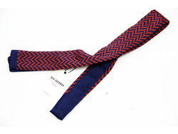 BEN SHERMAN Retro 60s Mod Zig Zag Knitted Tie (AS)
