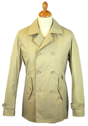 BEN SHERMAN 60s Mod Double Breasted Overcoat