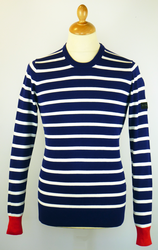 Stripe Knit BEN SHERMAN Retro Mod Crew Neck Jumper