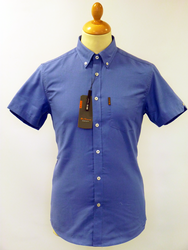 House Oxford BEN SHERMAN Retro Mod S/S Shirt DB