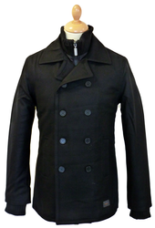 Melton Peacoat BEN SHERMAN Retro Reefer Jacket (B)