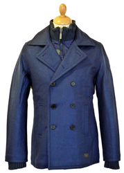 Melton Peacoat BEN SHERMAN Retro Reefer Jacket CB
