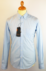 Fashion Stripe BEN SHERMAN Mod Button Down Shirt S
