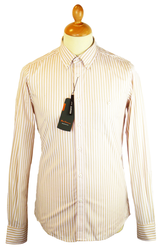 Fashion Stripe BEN SHERMAN Mod Button Down Shirt D