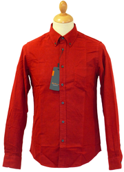 BEN SHERMAN Retro 60s Peached Cotton Mod Shirt TR