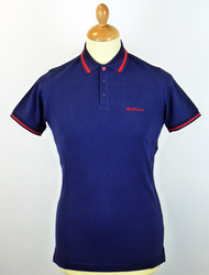 New Romford BEN SHERMAN Retro Mod Tipped Polo AB