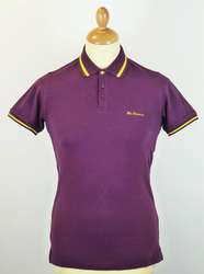 New Romford BEN SHERMAN Retro Mod Tipped Polo PP