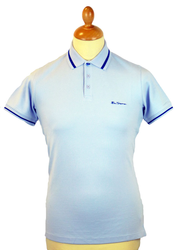 New Romford BEN SHERMAN Retro Mod Tipped Polo SB