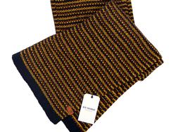 BEN SHERMAN Retro Mod 3 Color Weave Textured Scarf