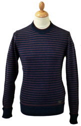 Double Collar BEN SHERMAN Retro Mod Stripe Jumper