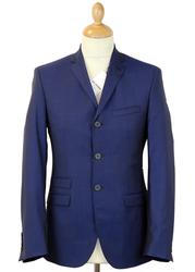 BEN SHERMAN Tailoring Mod 3 Button Blue Tonic Suit